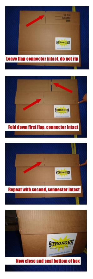 steps for opening moving box