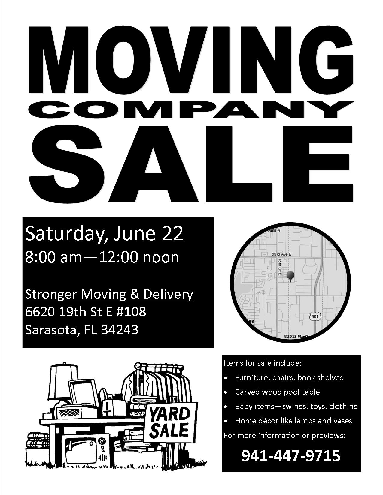 Having A Moving Company Sale This Saturday 6 22 Smooth